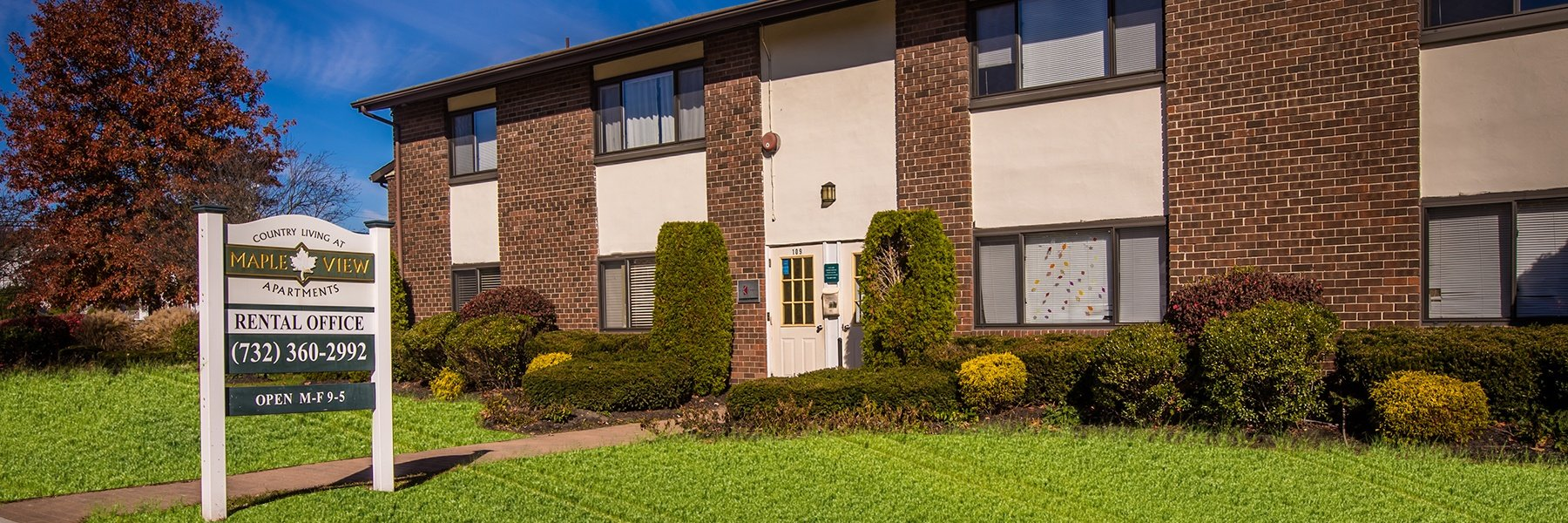 Country Living at Mapleview Apartments For Rent in Old Bridge, NJ Rental Office