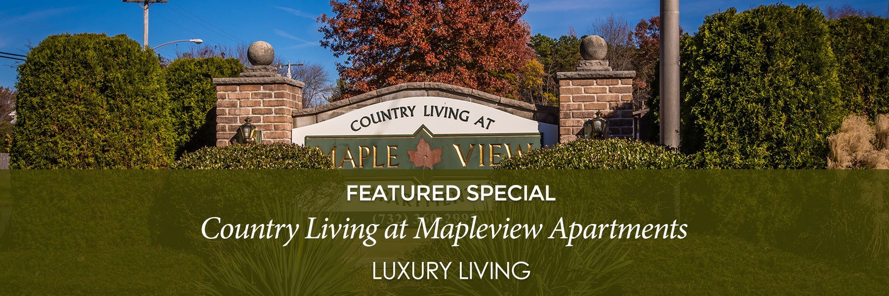 Country Living at Mapleview Apartments For Rent in Old Bridge, NJ Specials